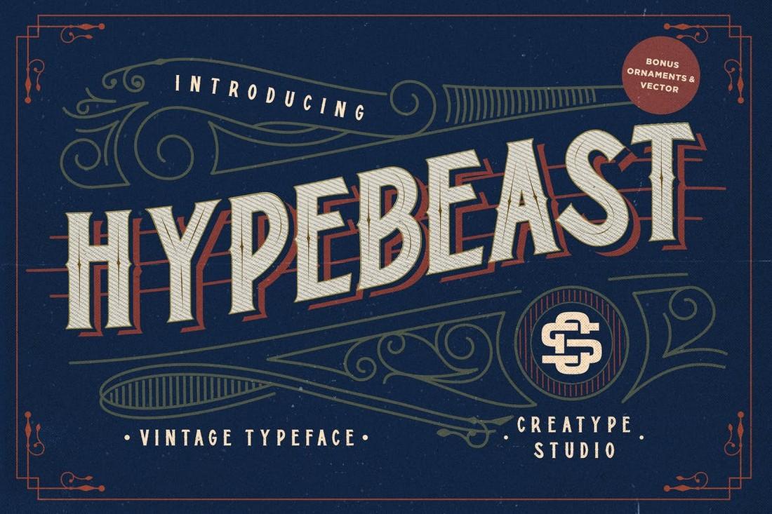 Hypebeast - Layered Vintage Font