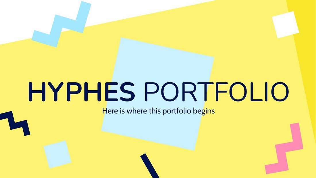 Portofolio Hyphes - Templat PowerPoint Seni Gratis