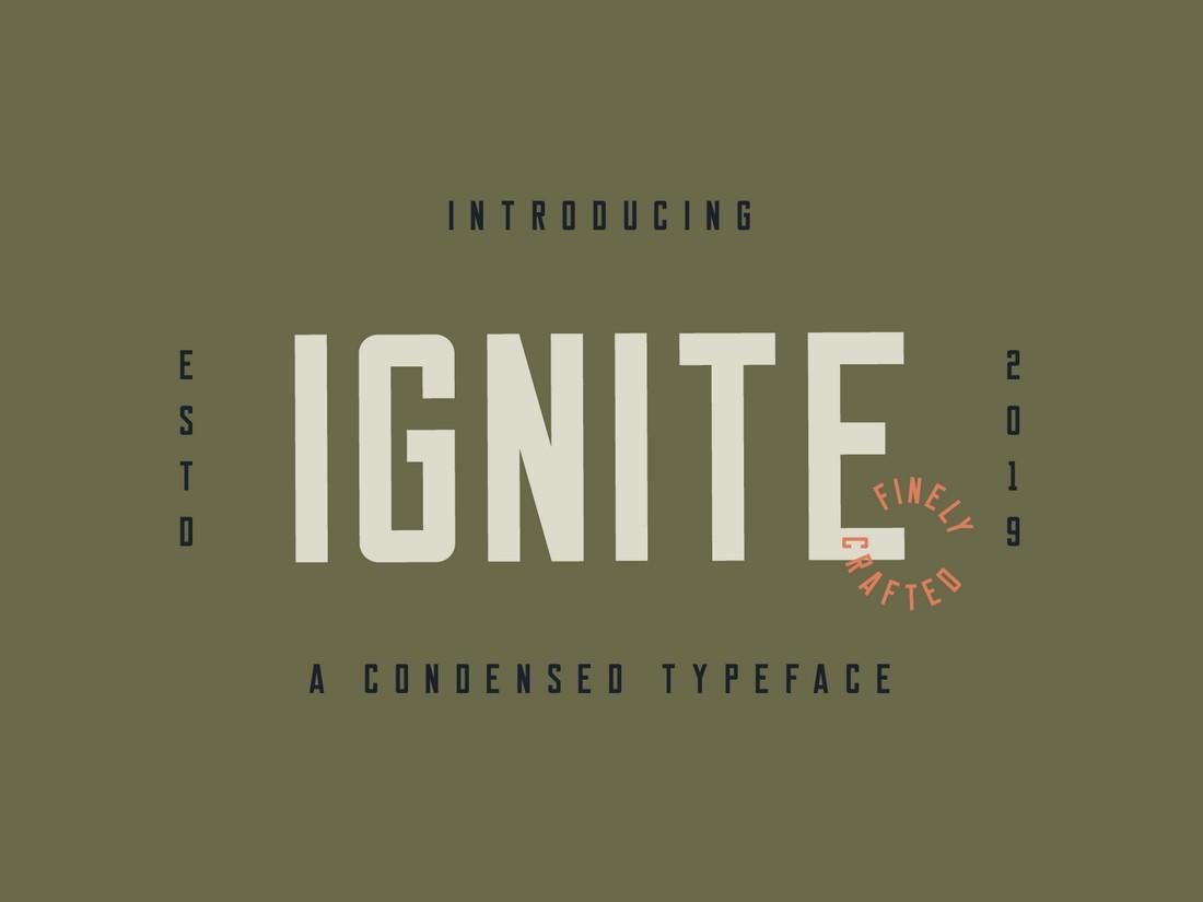Ignite - Free Vintage Font