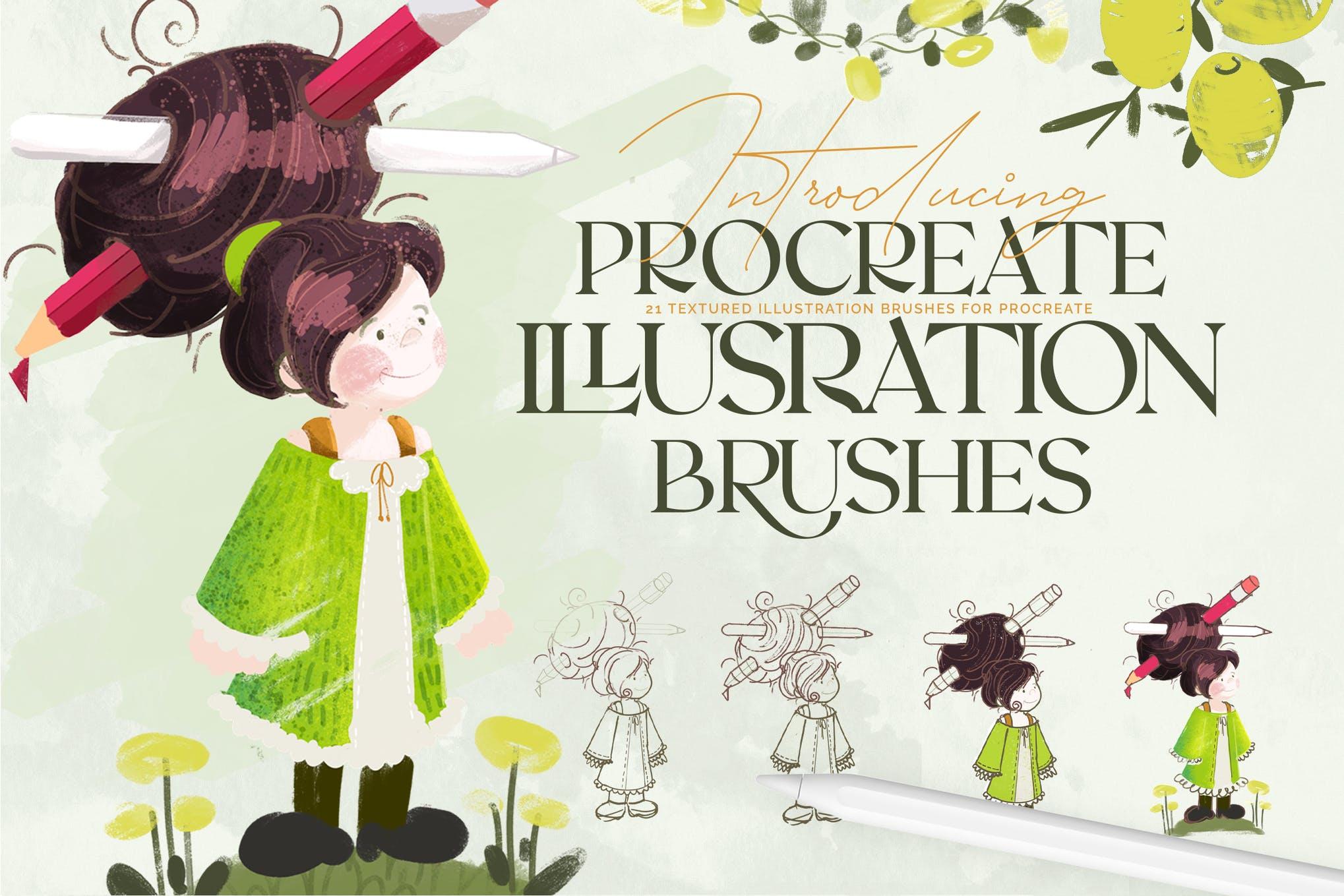 Illustration Brushes- Procreate Brushes