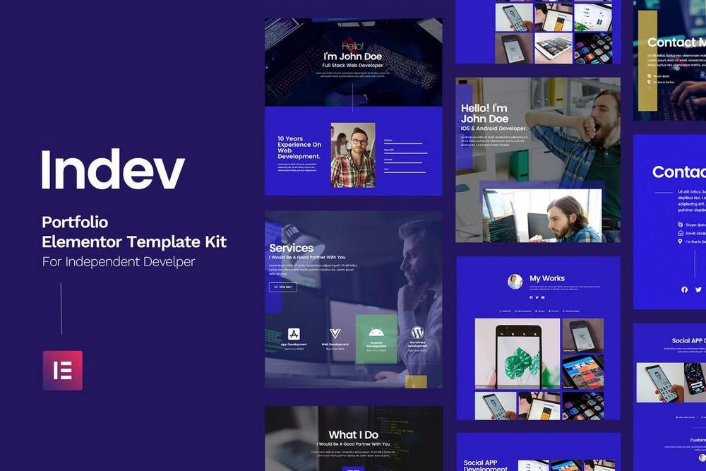 Indev - Portfolio Elementor Template Kit
