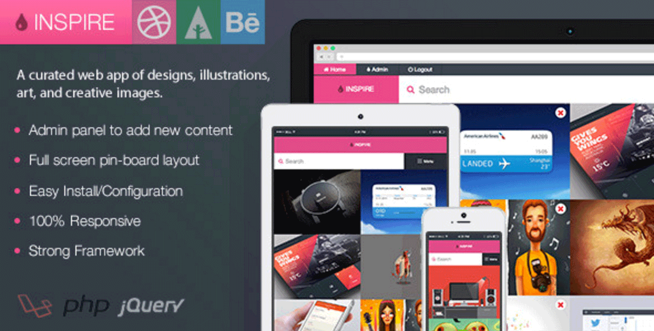 Inspire Dribbble WordPress Plugin