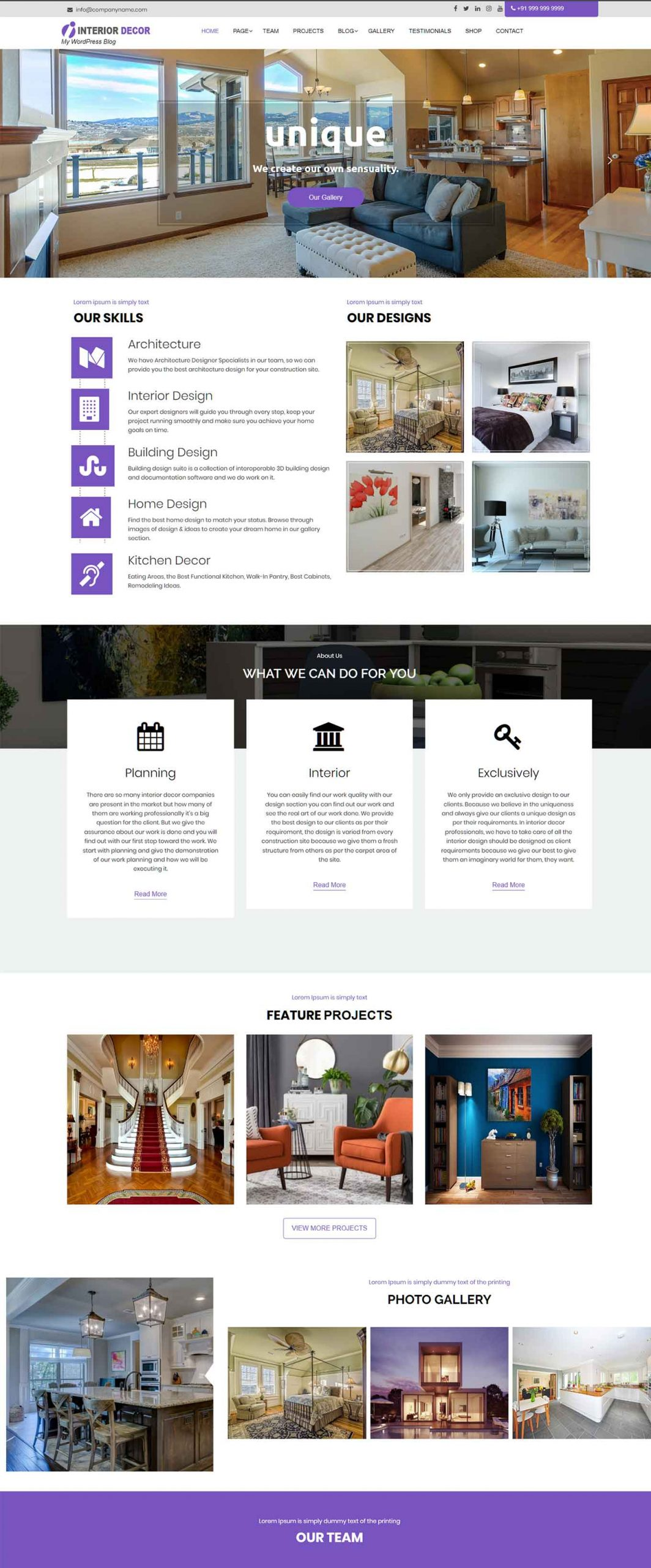 50 Best Interior Design Wordpress Themes 2020 Free Premium Theme Junkie