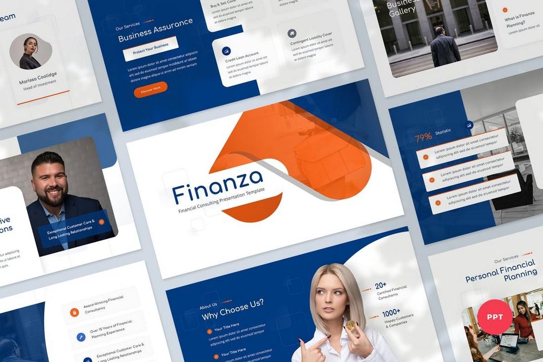 Templat Powerpoint Konsultan Investasi & Keuangan