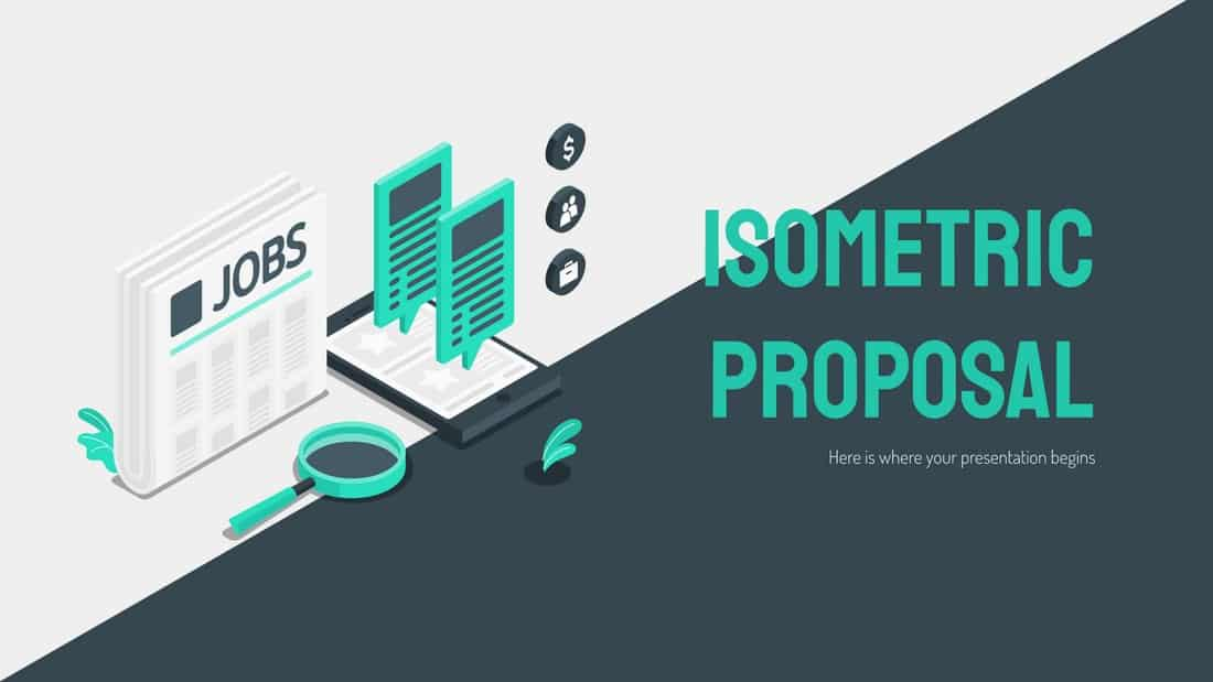 Isometric Proposal - Free PowerPoint Template
