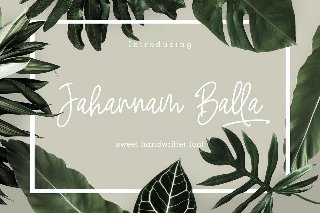 Jahannam Balla - Handwritten Script Wedding Font
