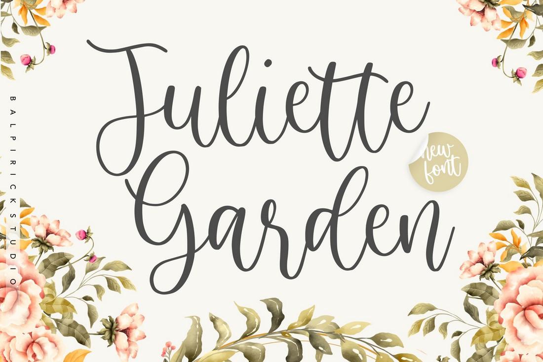 Juliette Garden - Font Kaligrafi Modern Gratis
