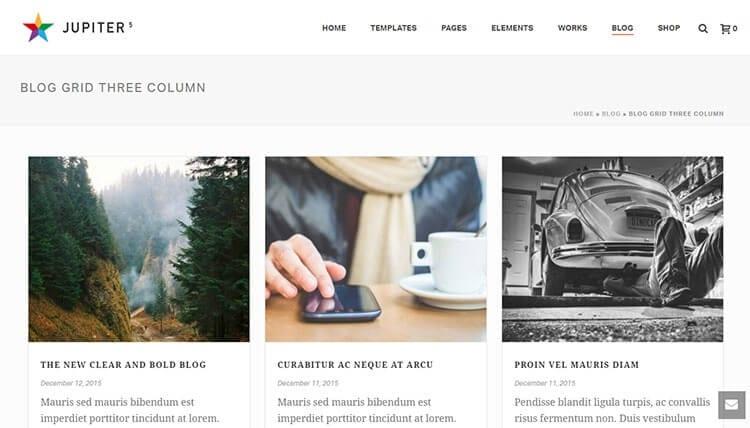 Tata Letak Blog Jupiter WordPress Theme Review