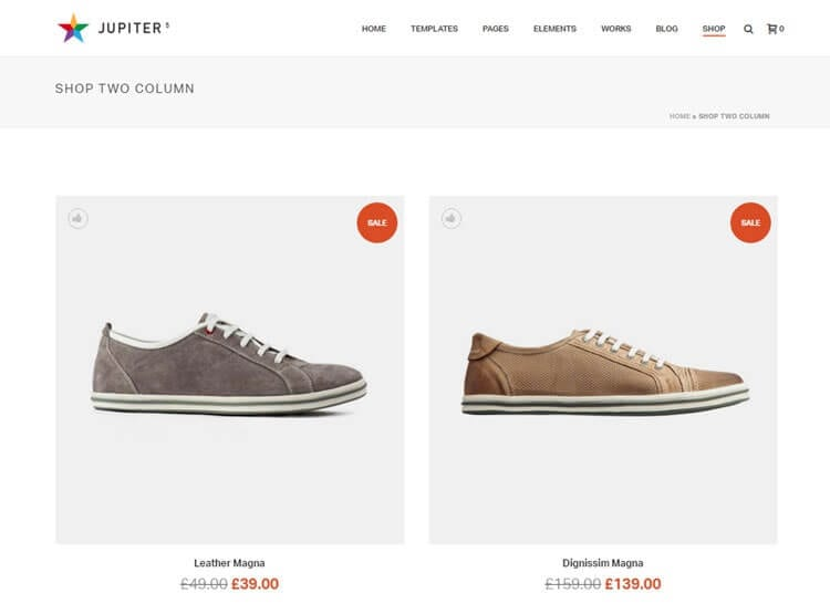 Jupiter WordPress Theme Review E-commerce Dua