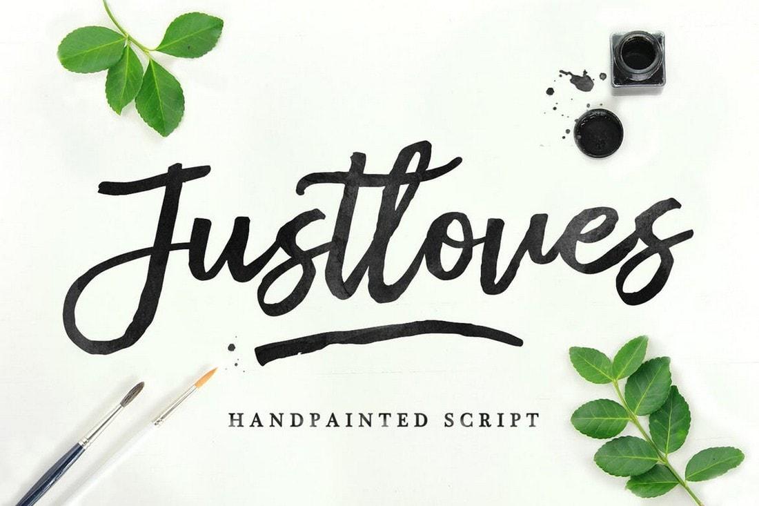 Justloves - Handpainted Script Font