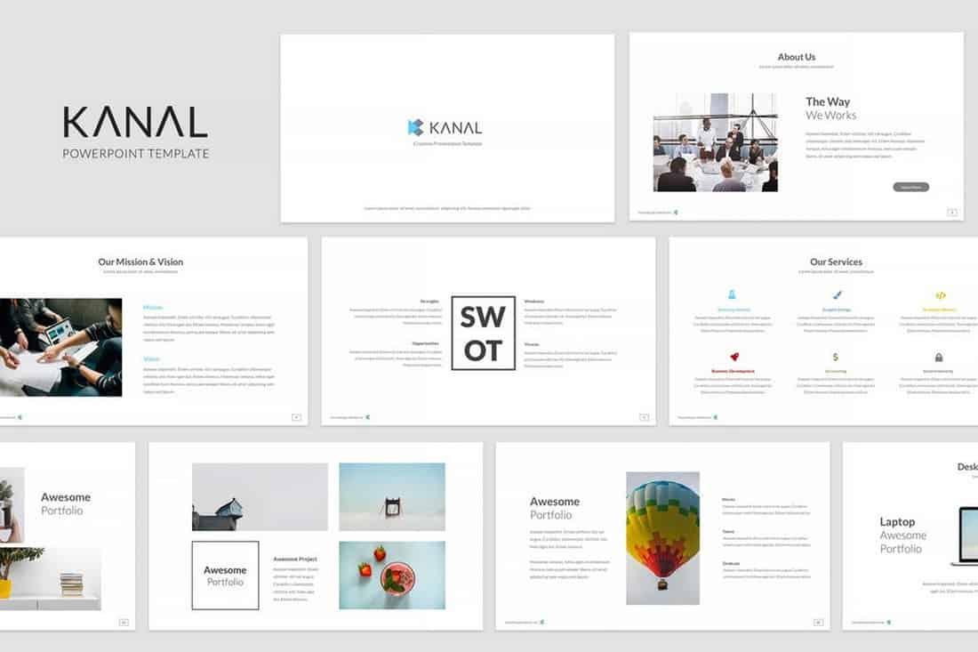 Kanal - Simple Powerpoint Template