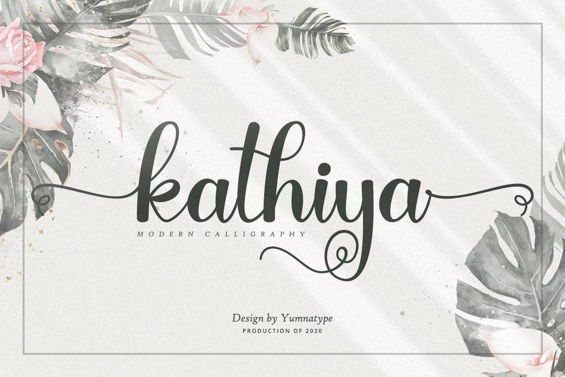 Kathiya - Font Kaligrafi Pernikahan Modern
