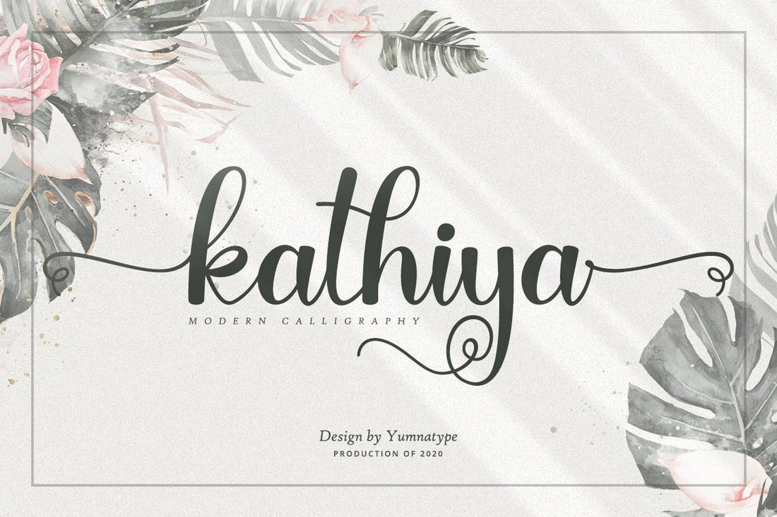 Kathiya - Modern Wedding Calligraphy Font