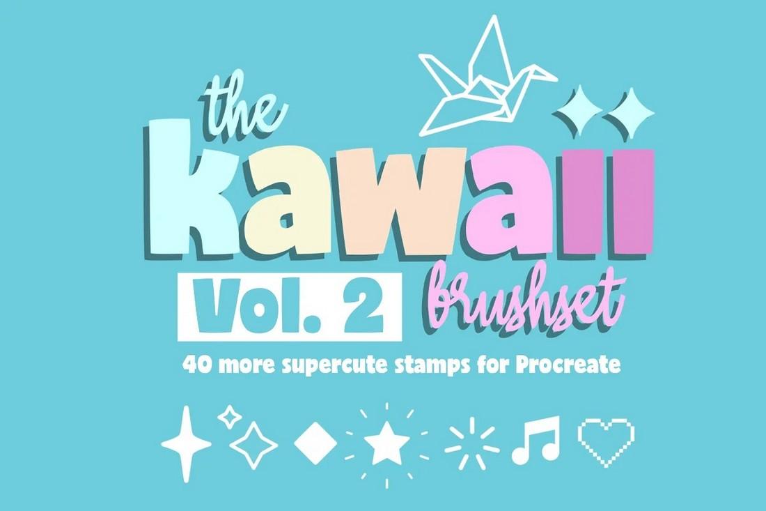 Kawaii Procreate Pixel Art Brushes