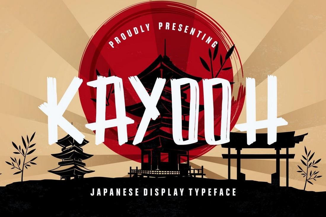 Kayooh - Font Tampilan Jepang