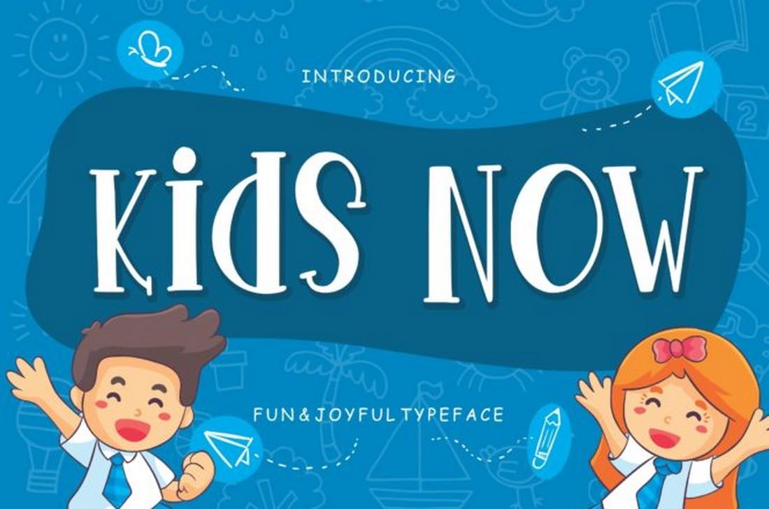 Anak Sekarang - Font Anak Lucu Gratis