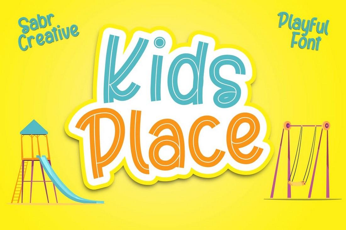 Tempat Anak-Anak - Font Anak Menyenangkan