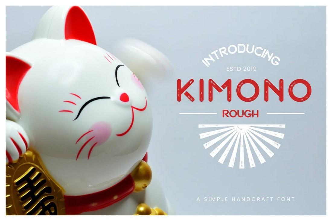 Kimono - Font Tampilan Jepang