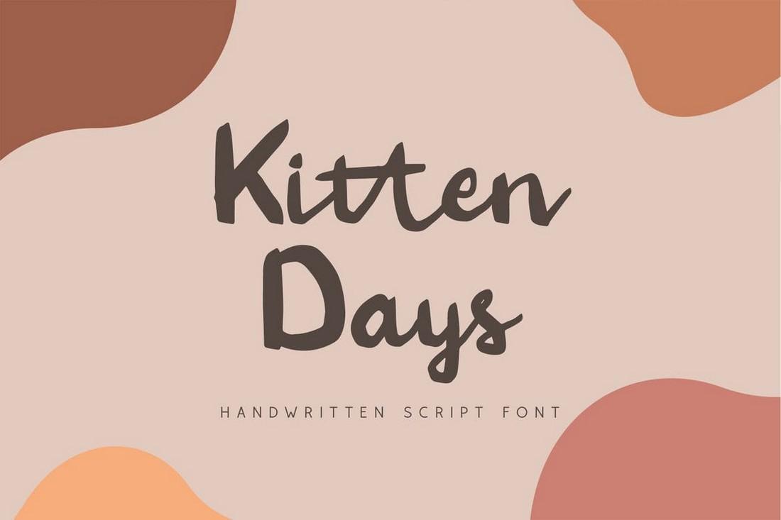 Kitten Days - Font Tulisan Tangan untuk Cricut