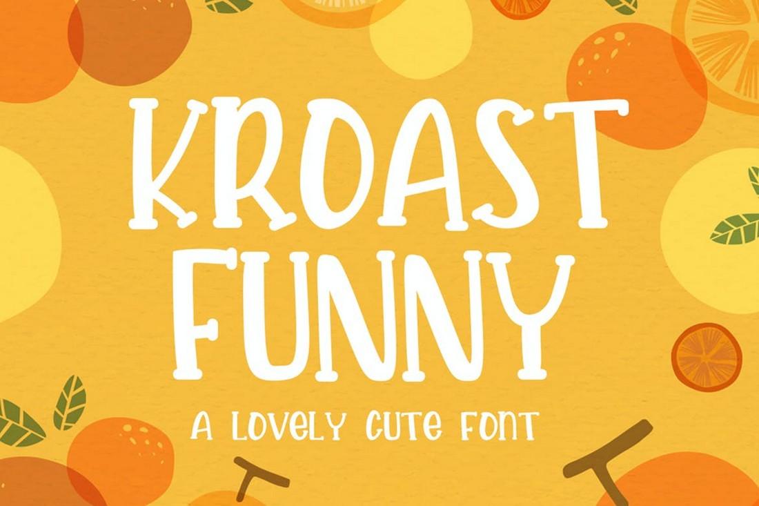 Kroast - Font Cricut yang Menyenangkan & Unik