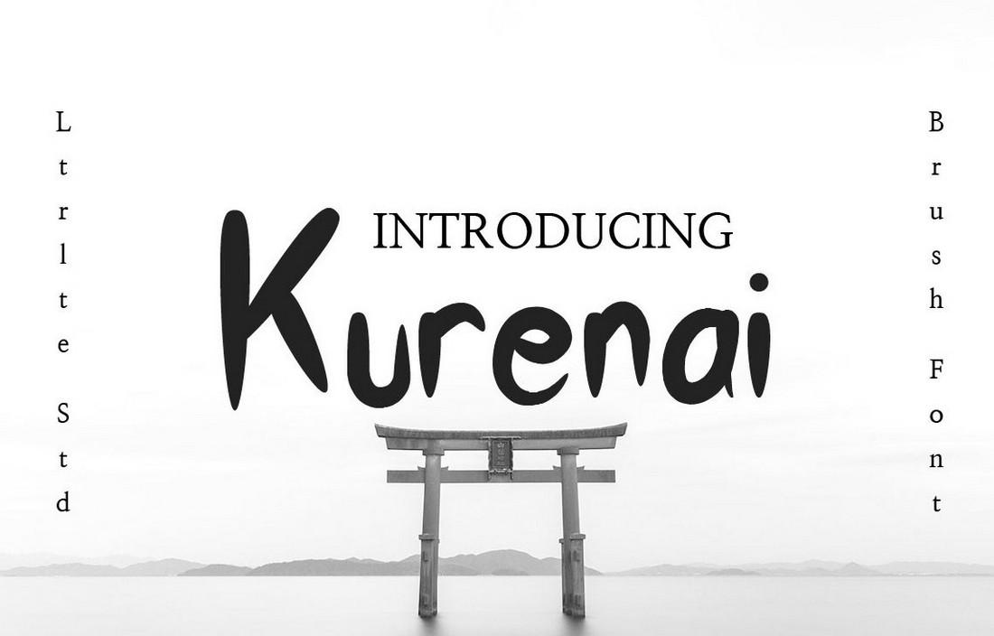 Kurenai - Font Kuas Jepang Gratis