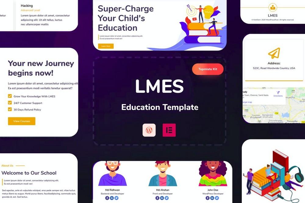 LMES - Education Websites Elementor Template Kit