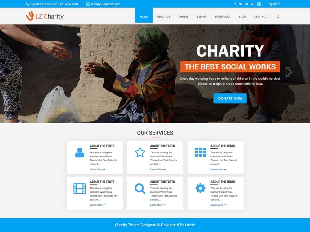 LZ Charity Welfare-free-church-wordpress-theme
