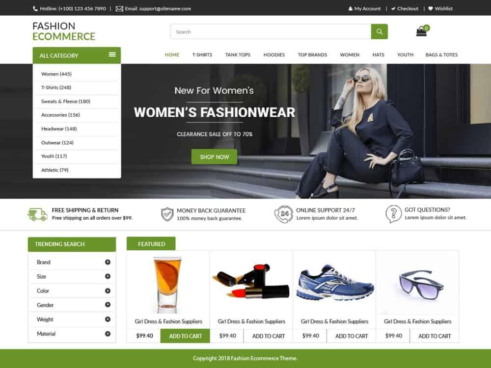 LZ Fashion - Free Online Store WordPress Theme