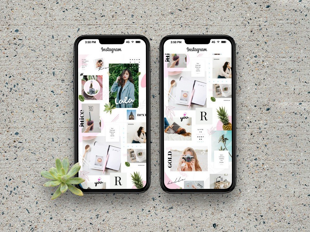 Lala - Free Instagram Puzzle Grid Templates