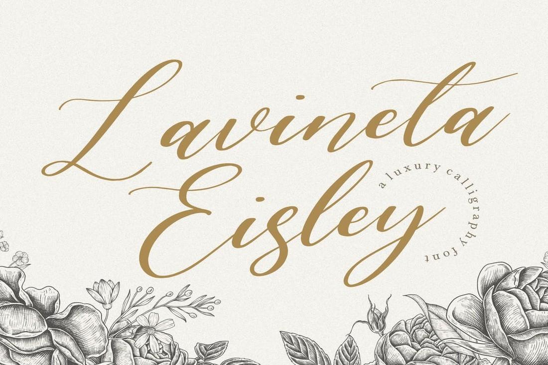 Lavineta Eisley YH - Modern Wedding Script Font