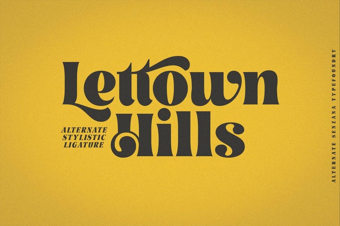 Lettown Hills - Font Art Nouveau