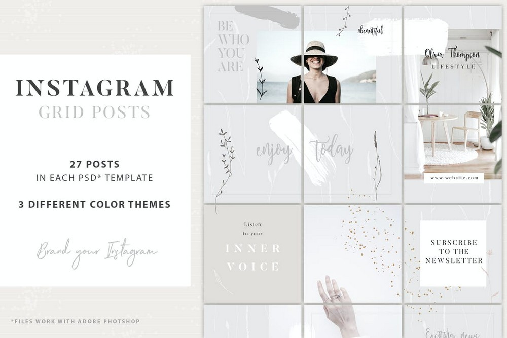 Lifestyle Instagram Grid Post Template