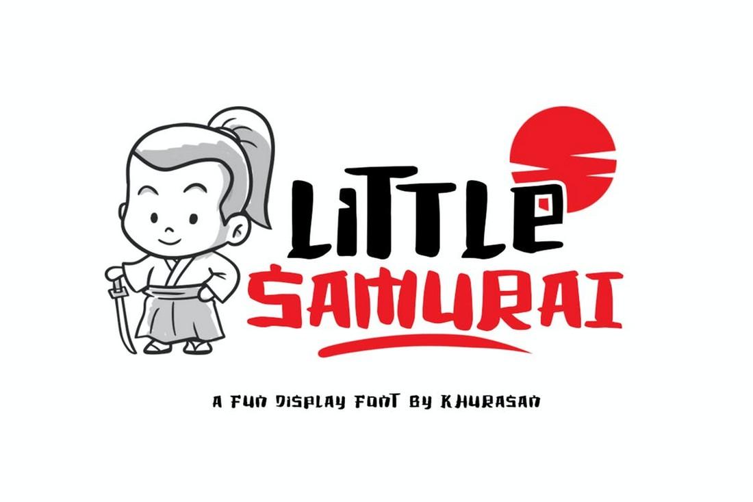 Little Samurai - Font Jepang Lucu