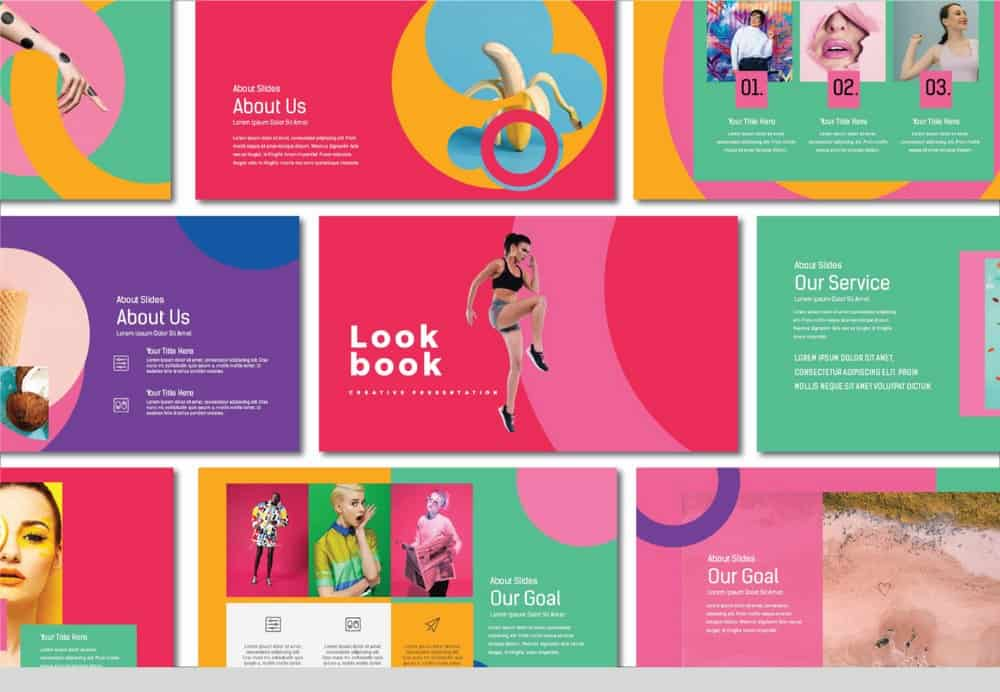 LookBook - Free Colorful Keynote Template