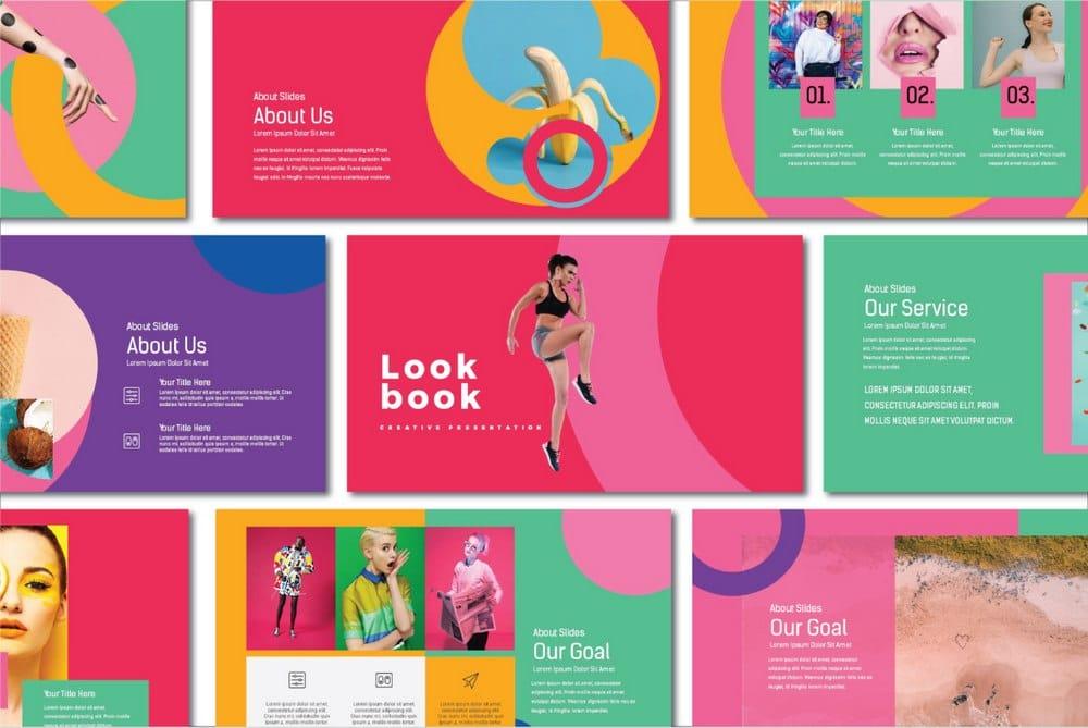 Lookbook - Free Pastel Keynote Template
