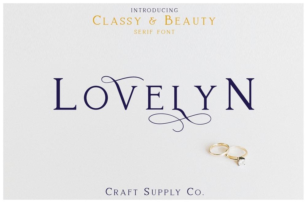 Lovelyn - Free Elegant Logo Font