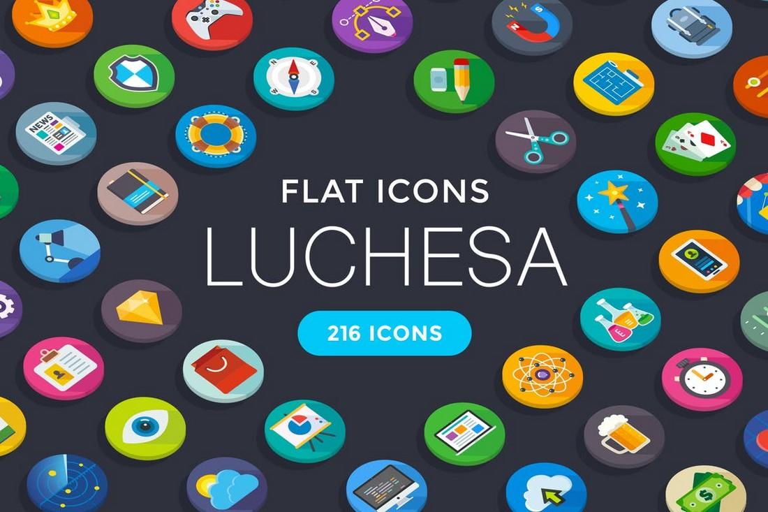 Luchesa Custom Flat Icons untuk iPhone