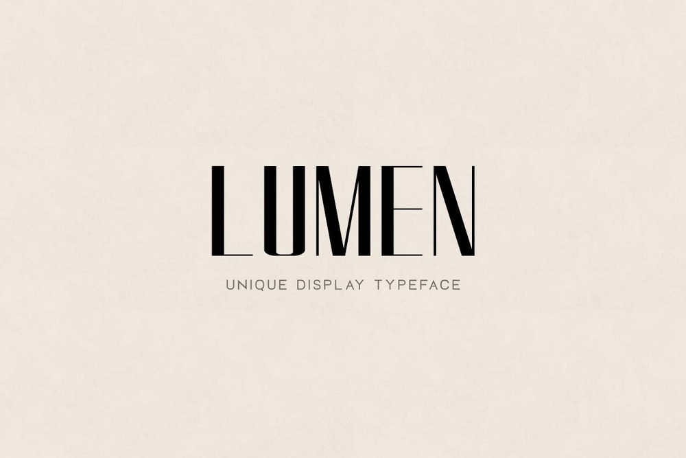 Lumen - Modern Luxury Logo Font