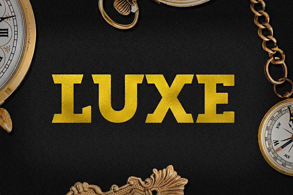 Luxe - Big Bold Logo Font