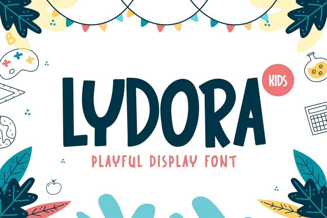 Lydora - Font Tampilan Anak-Anak yang Menyenangkan