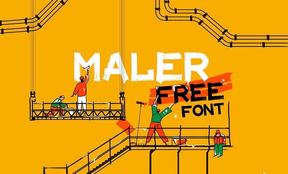 MALER Font - Free Latin Cyrillic Font
