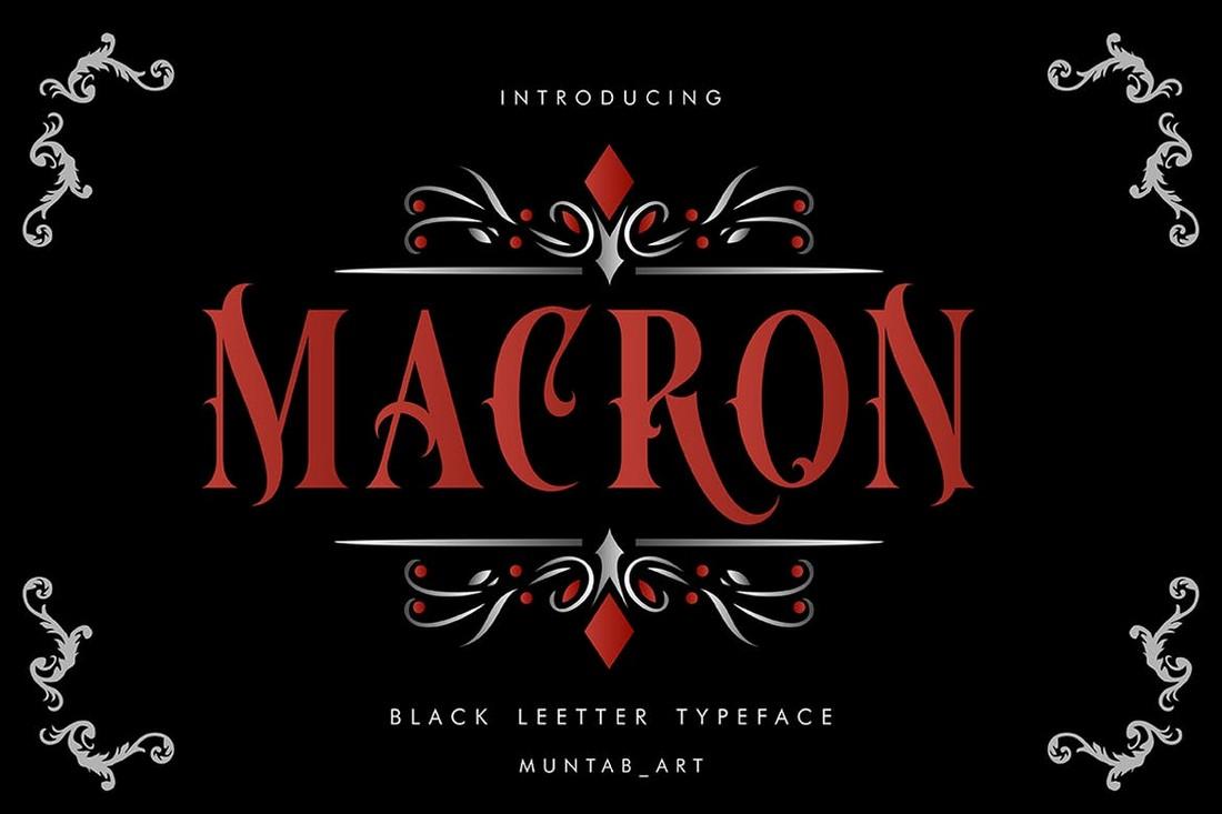 Macron - Font Art Nouveau Vintorian
