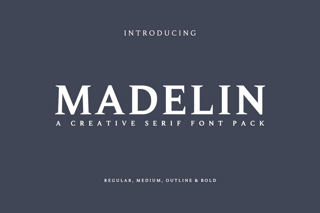 Madelin - Business Card Font Family