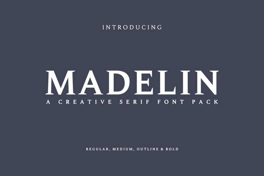 Madelin - Keluarga Font Kartu Bisnis
