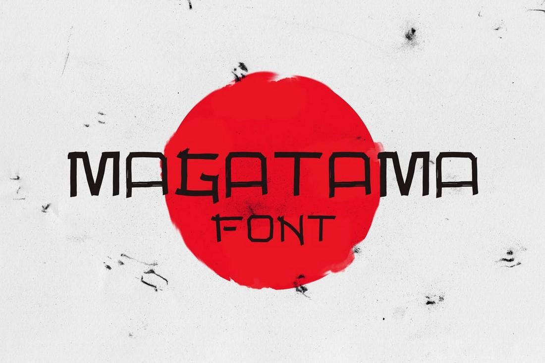 Magatama - Font Jepang Minimal