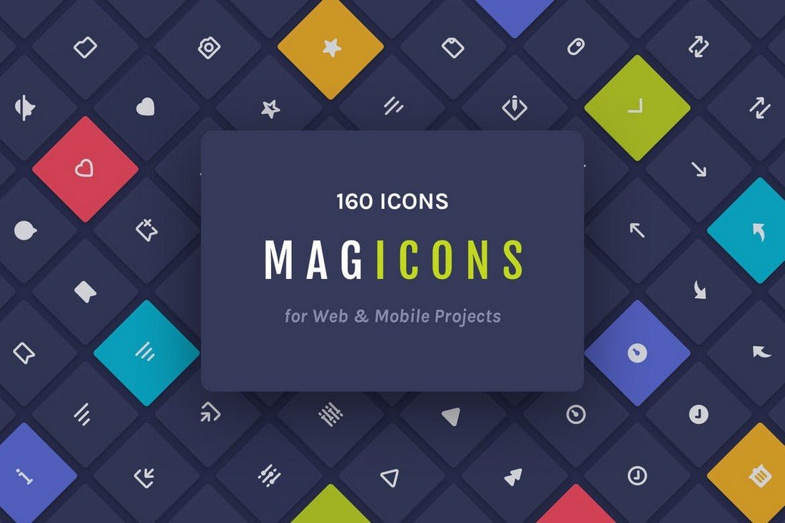 Magicons - 160 Icons for Web & Mobile
