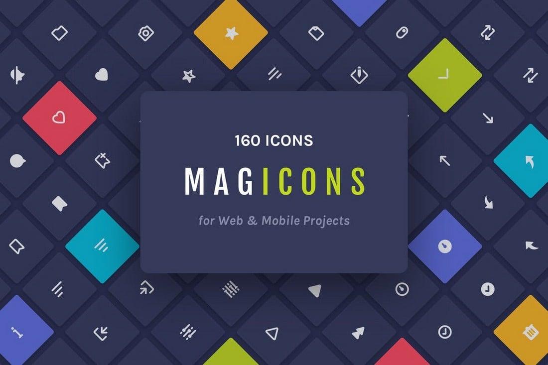 Magicons - 160 Ikon untuk Web & Seluler