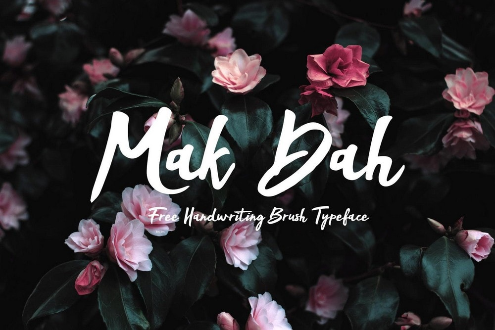 Mak Dah - Font Brush Handmade Gratis