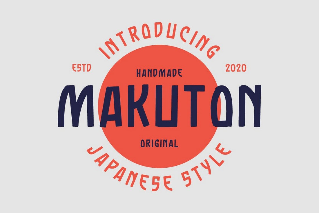 Makuton - Font Jepang Vintage