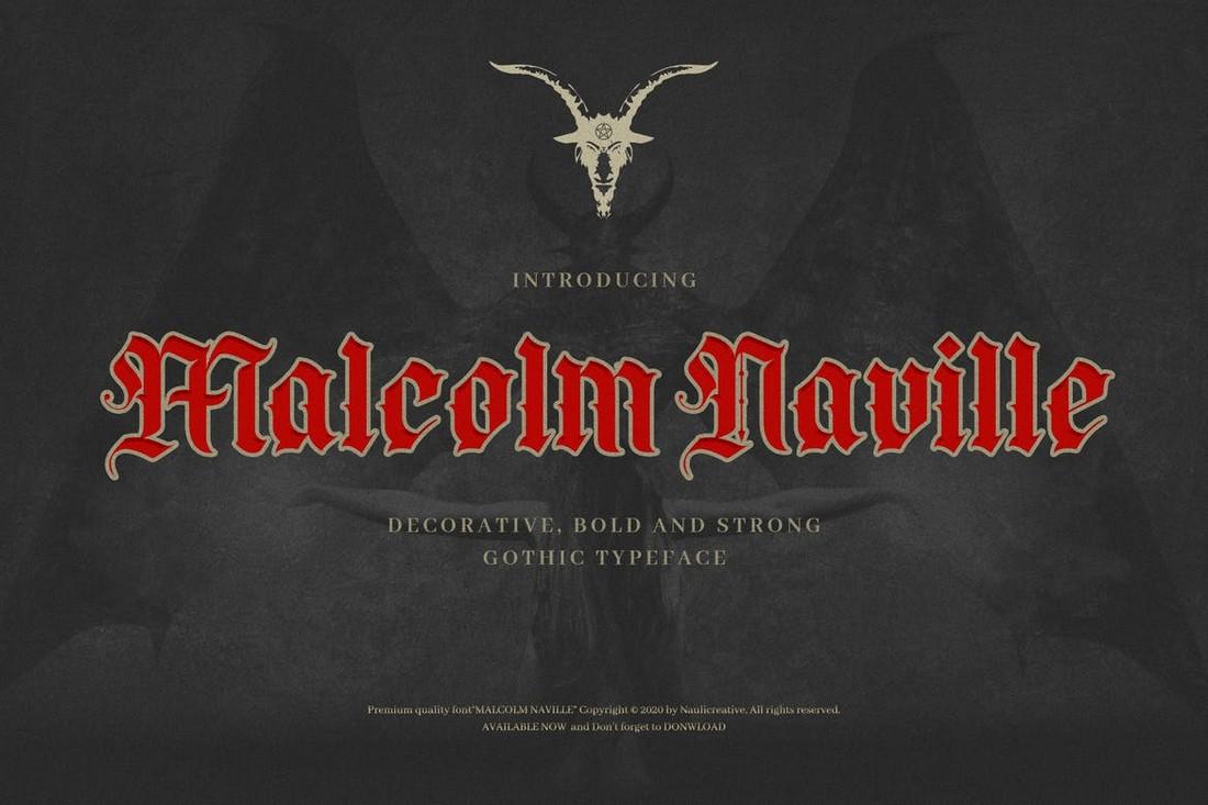 Malcolm Naville - Font Blackletter Band Metal